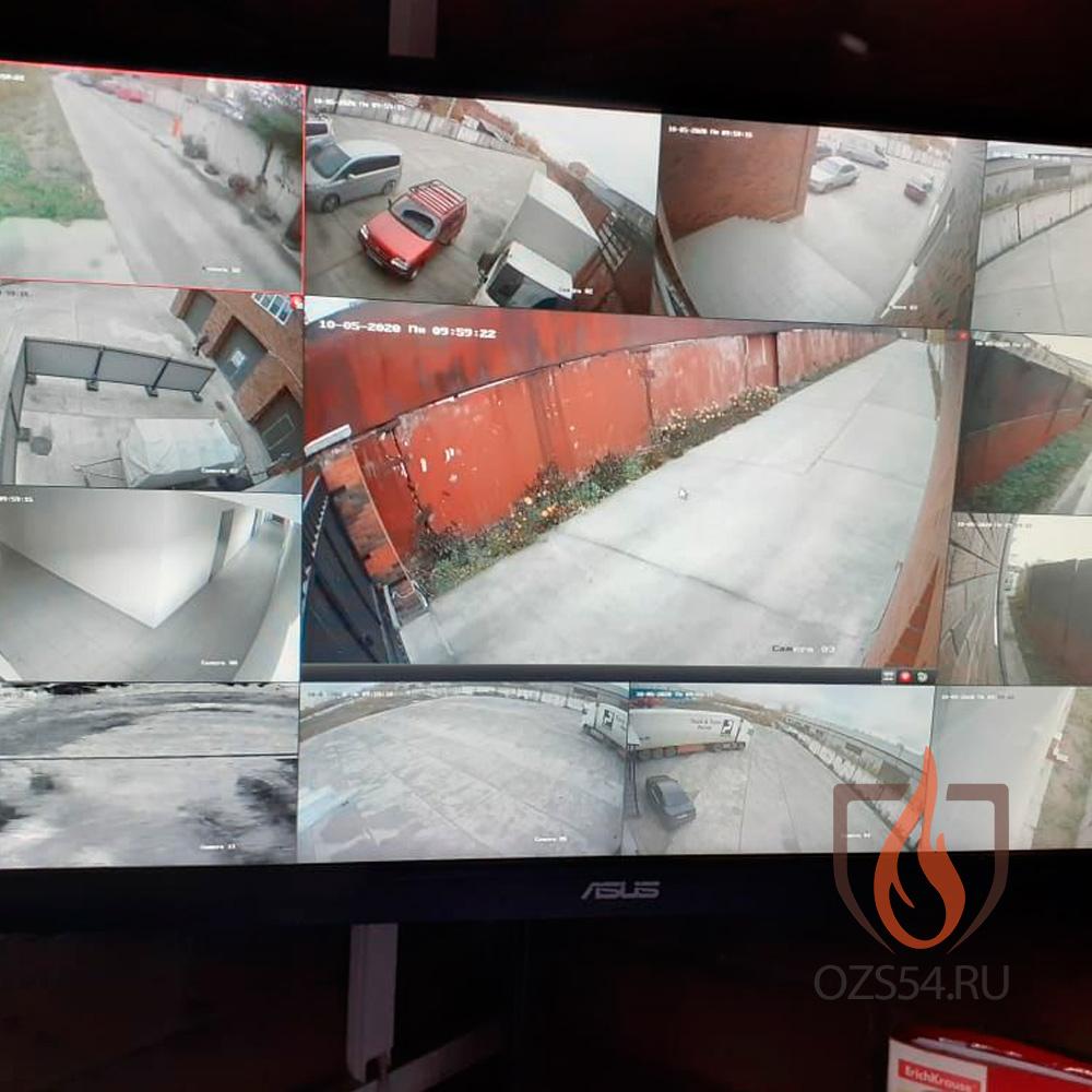 Монтаж и обслуживание системы видеонаблюдения территории со складскими помещениями и административным корпусом