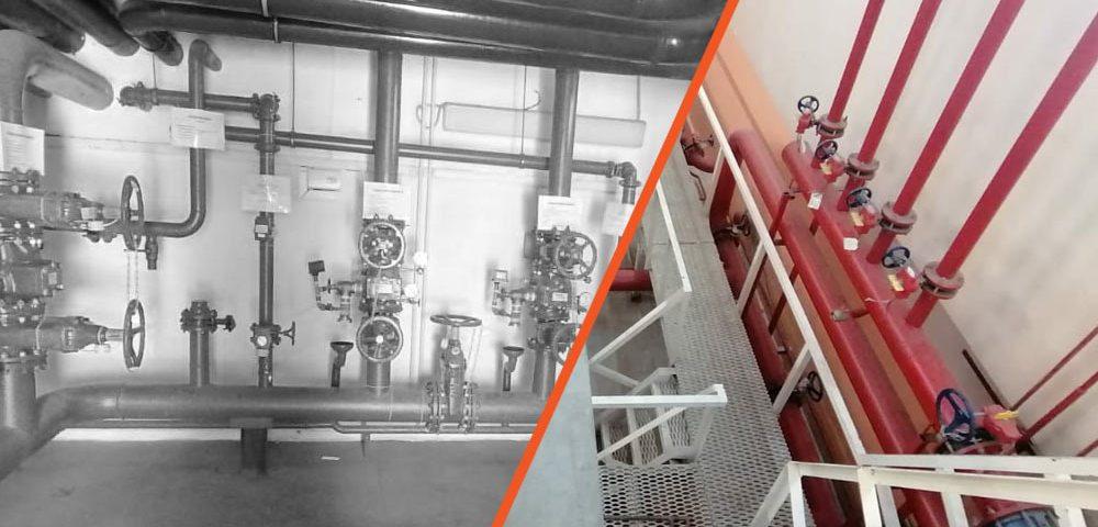 Техническое обслуживание установок станции системы пожаротушения