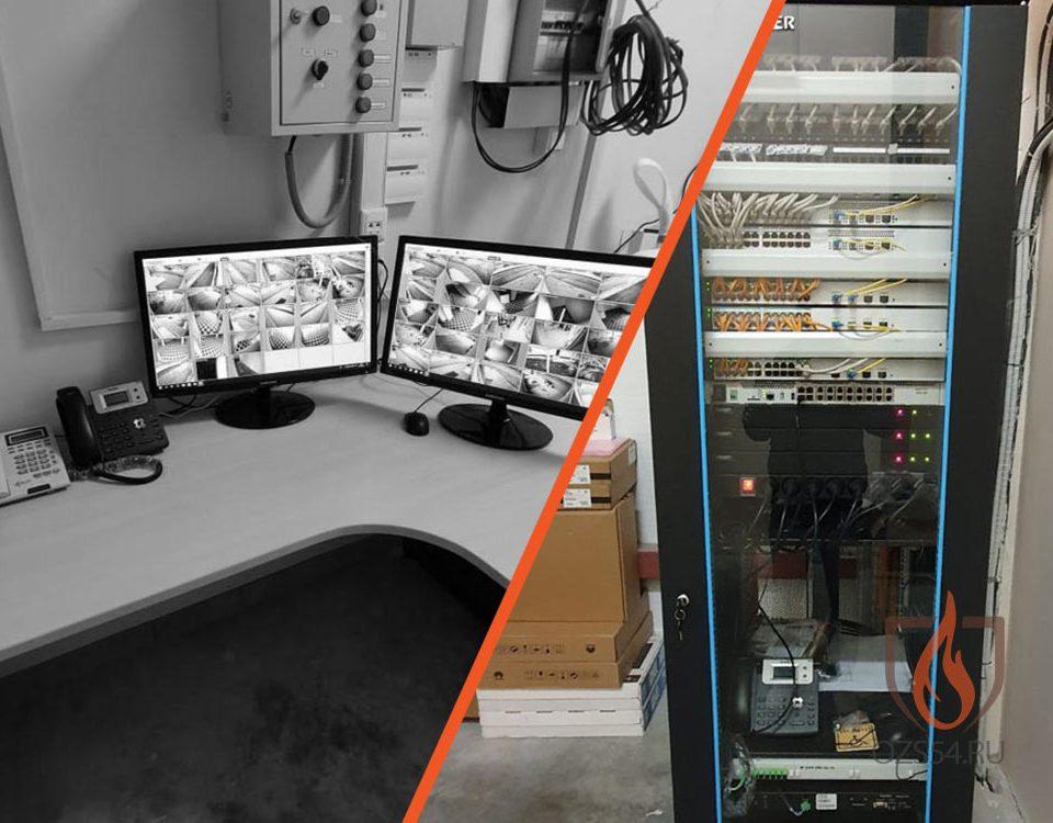 Монтаж стойки структурированной кабельной сети