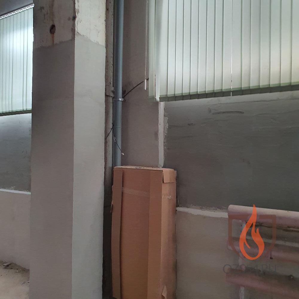 Монтаж водяной системы пожаротушения в складском комплексе