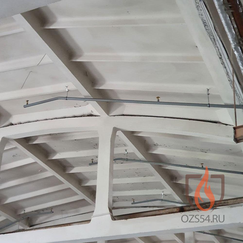 Монтаж гидравлической системы пожаротушения на складе