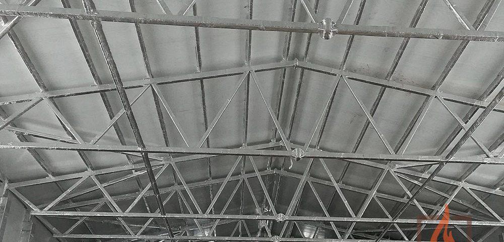 Огнезащитная обработка несущих металлоконструкций